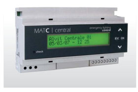 Unit for the centralized control of emergency lamps serie MATC CENTRAL